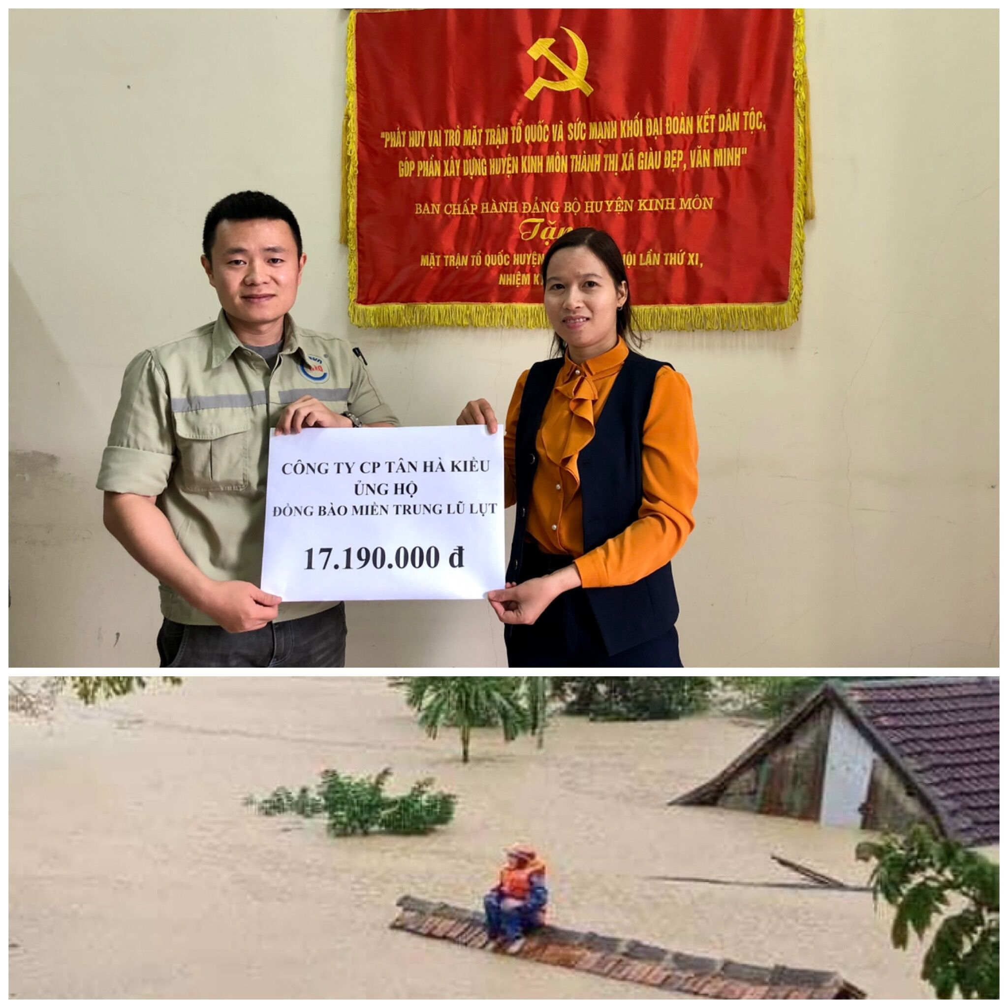 NHQ SUPPORTS THE PEOPLE IN THE CENTRAL OF VIETNAM TO deal with the consequences of flood